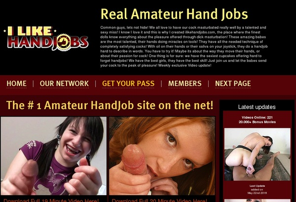 I Like Hand Jobs Account 2016