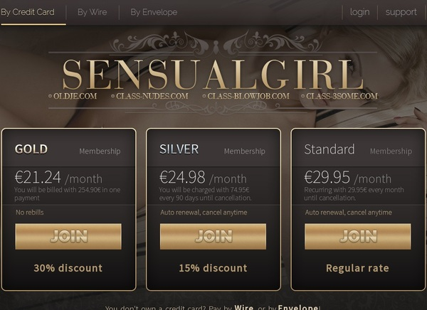 Sensualgirl.com Premium Account Free