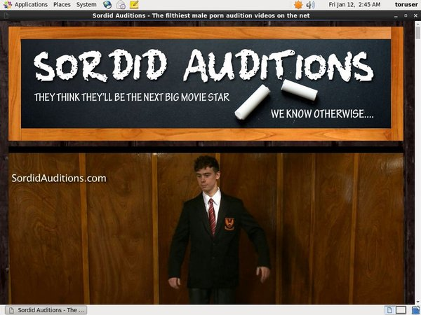 Sordid Auditions With ECheck