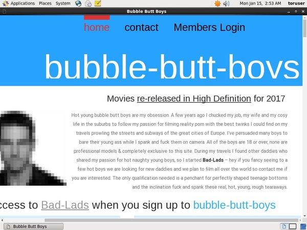 Bubble-butt-boys.com Membership Plan