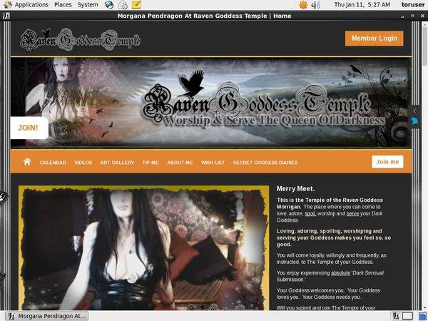 Morgana Pendragon At Raven Goddess Temple Valid Password