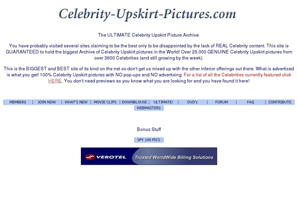 Celebrity Upskirt Pictures Checkout Page